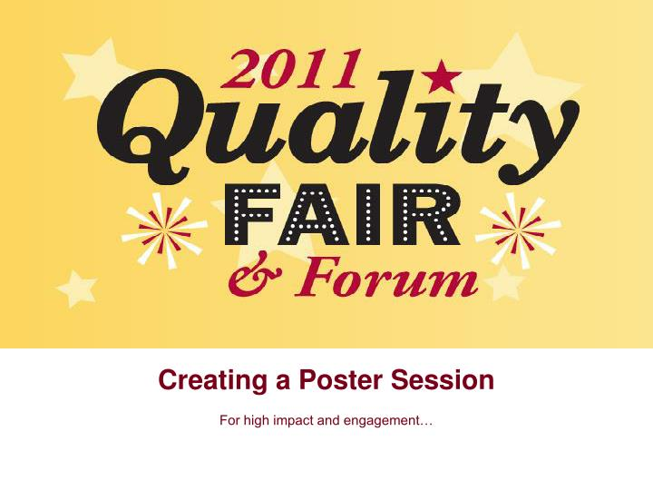 creating a poster session n.