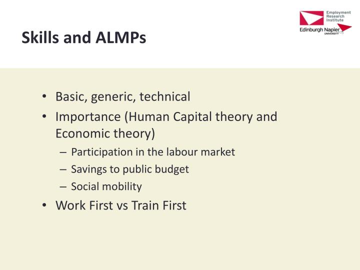 Skills and ALMPs