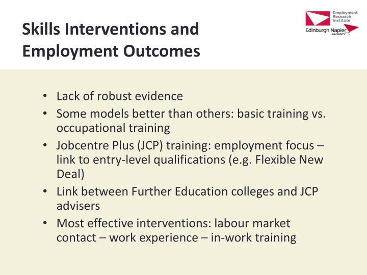 Skills Interventions and