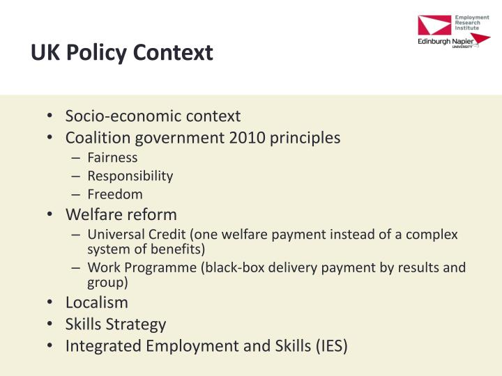 UK Policy Context