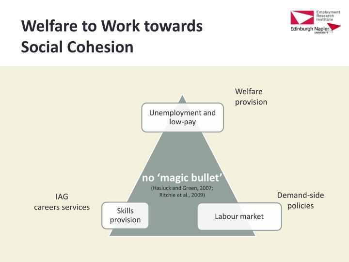 Welfare to Work towards