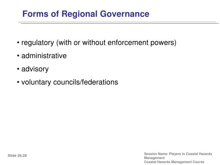 Forms of Regional Governance