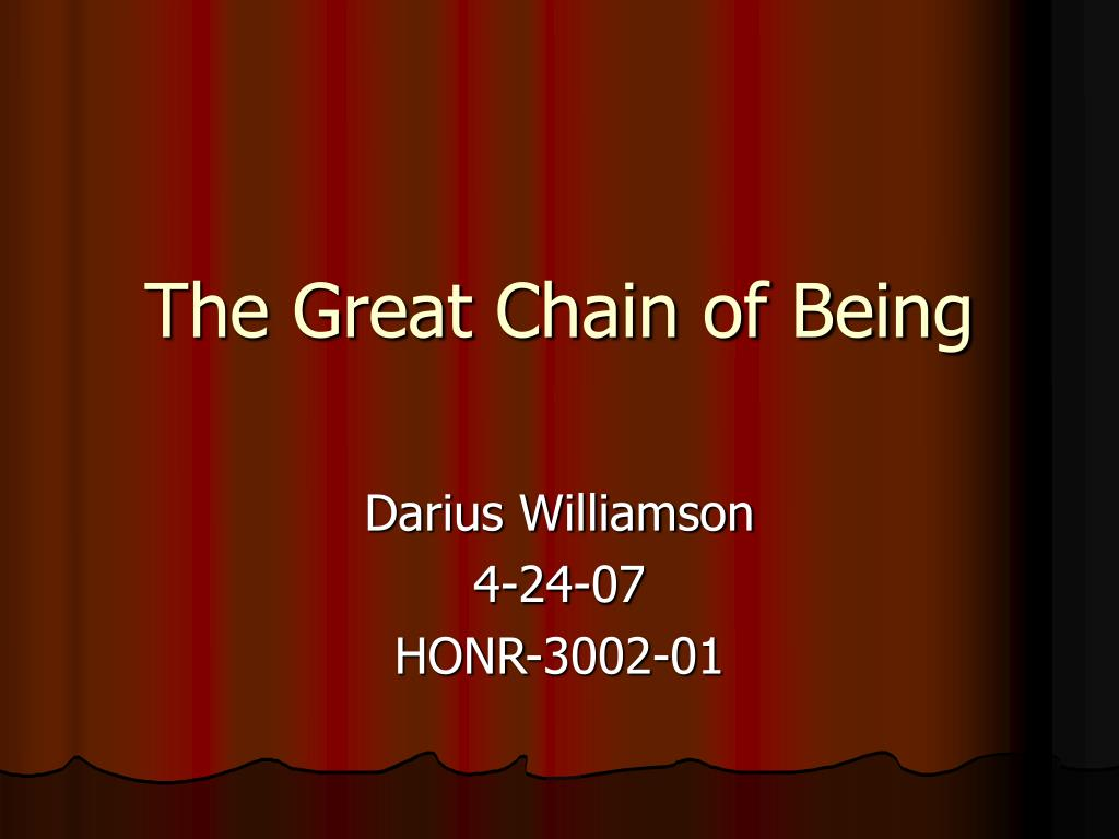 the great chain of being l.