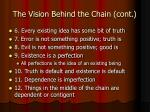 the vision behind the chain cont