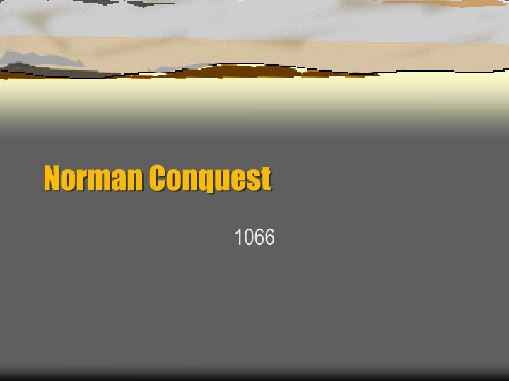 norman conquest n.