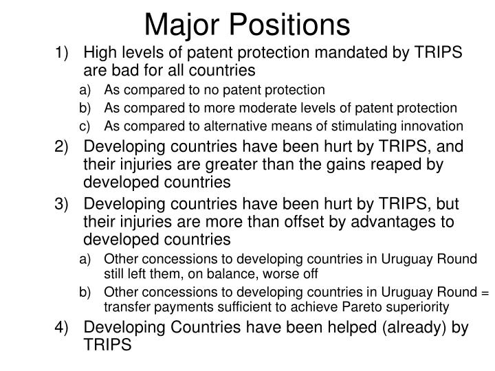 Major positions