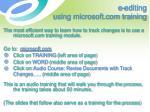 e editing using microsoft com training