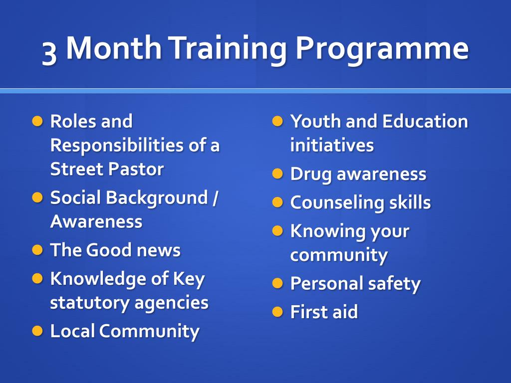 3 Month Training
