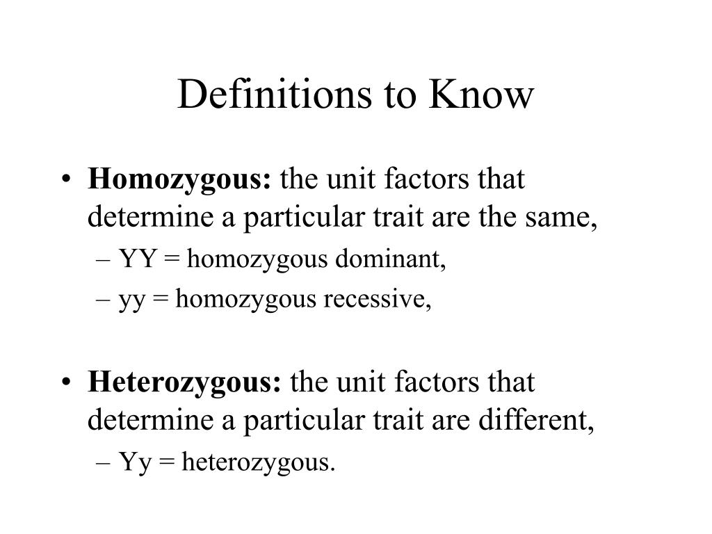 Definitions to Know