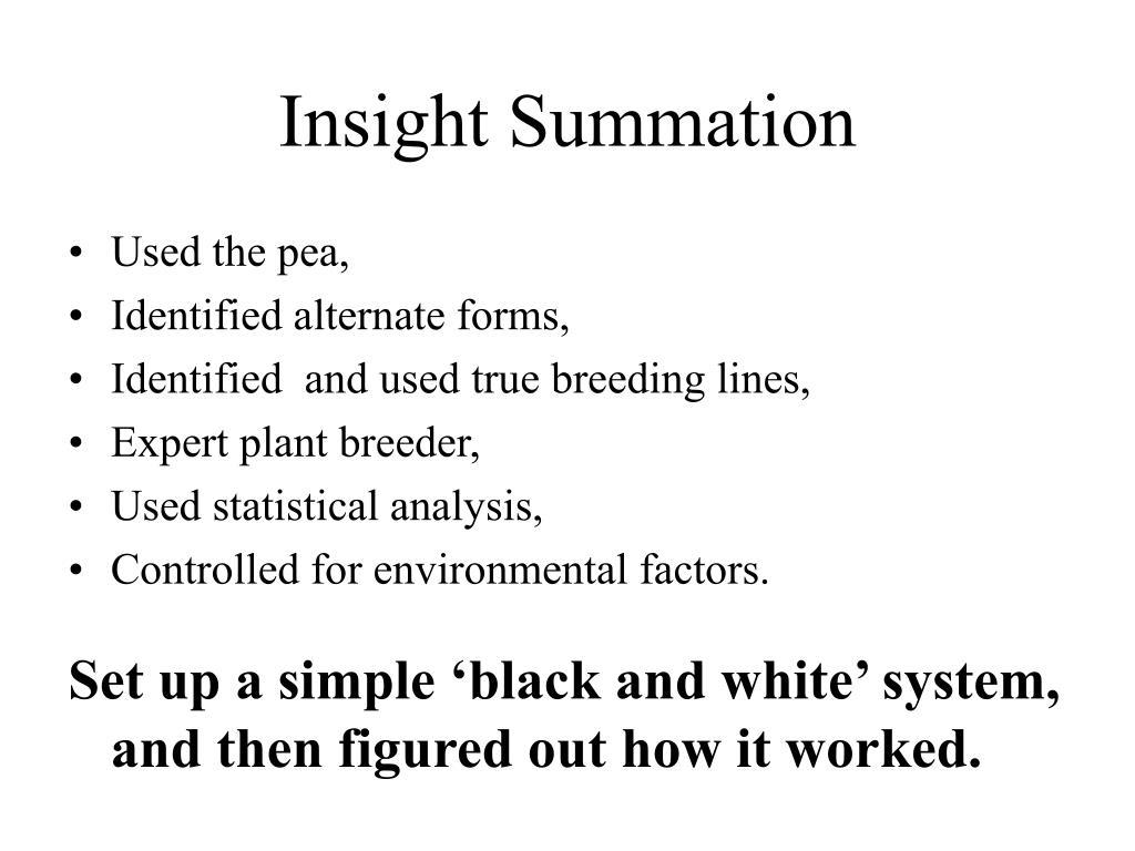 Insight Summation