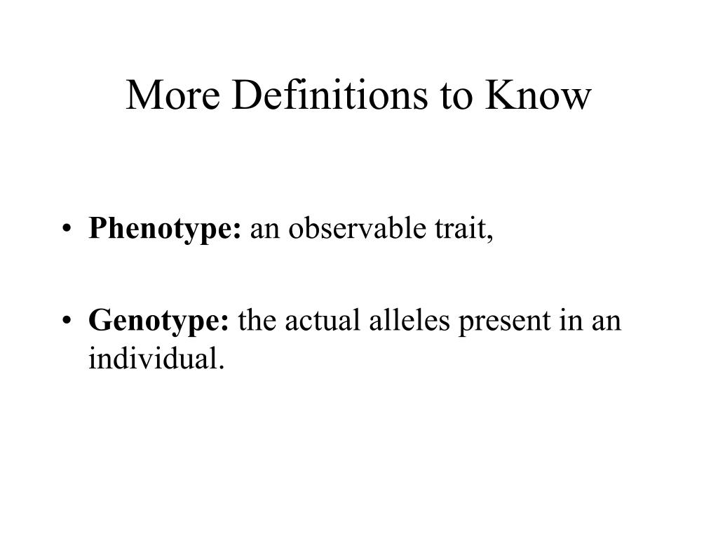 More Definitions to Know