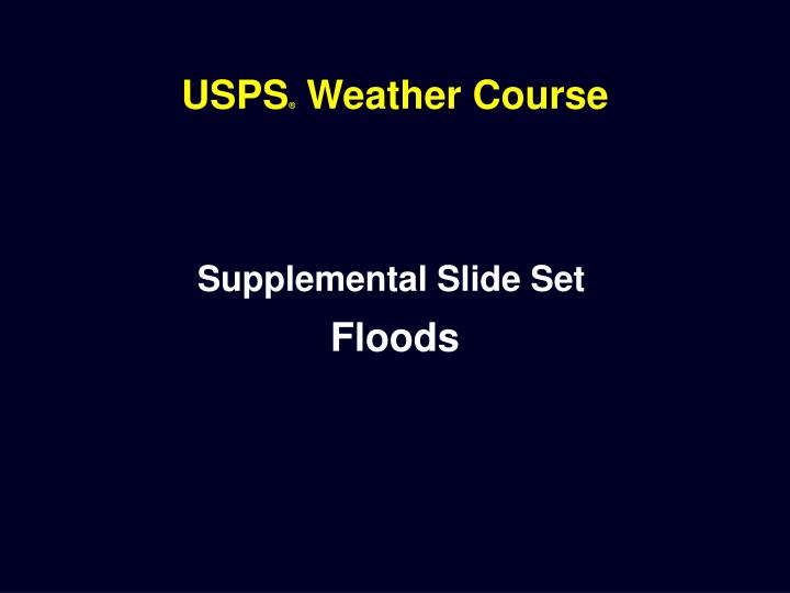 Usps weather course