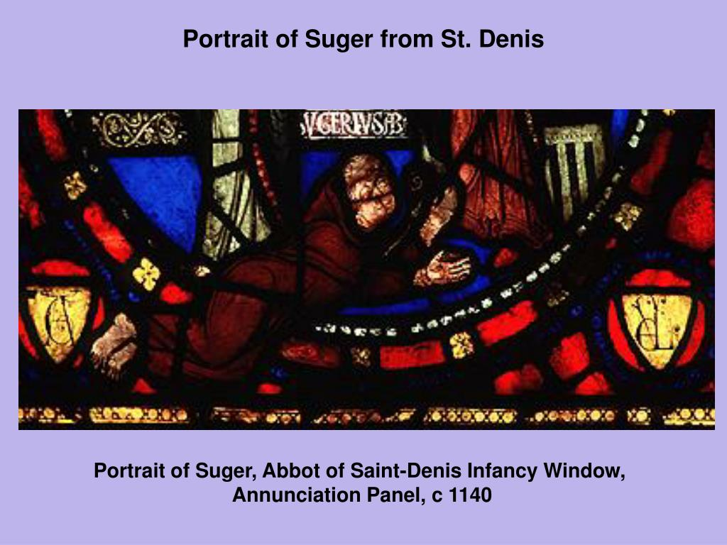 Portrait of Suger from St. Denis
