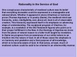 rationality in the service of god
