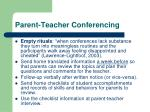 parent teacher conferencing