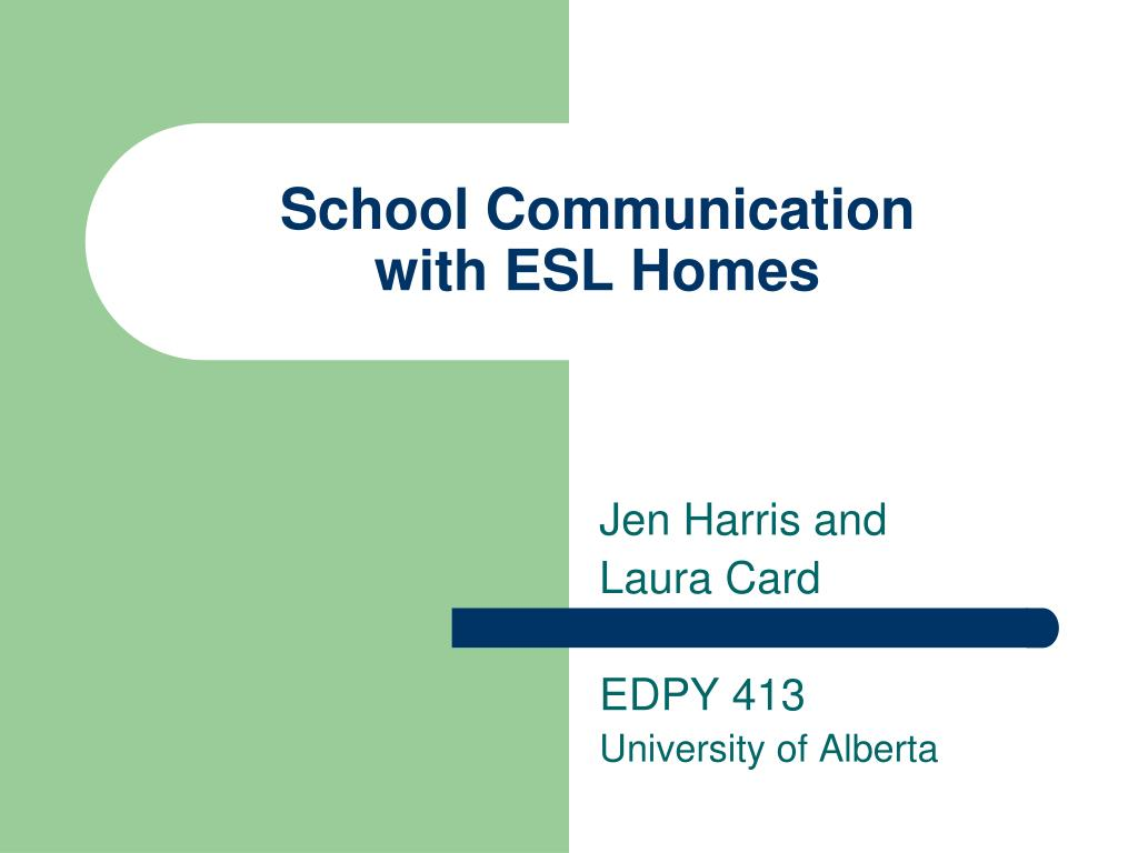 school communication with esl homes l.