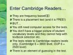 enter cambridge readers