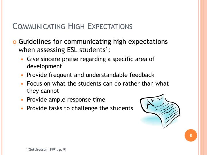 Communicating High Expectations