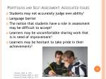 portfolios and self assessment associated issues