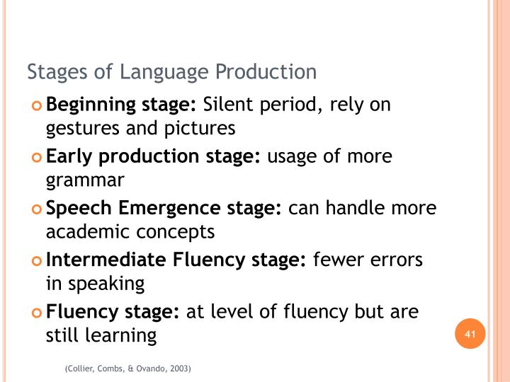 Stages of Language Production