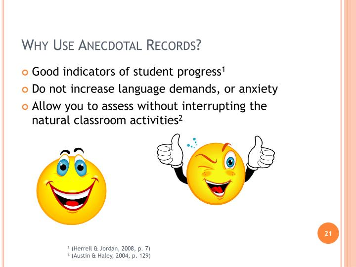 Why Use Anecdotal Records?