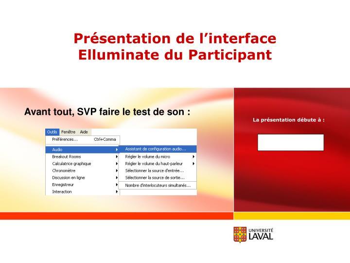 pr sentation de l interface elluminate du participant n.