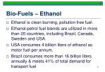 bio fuels ethanol