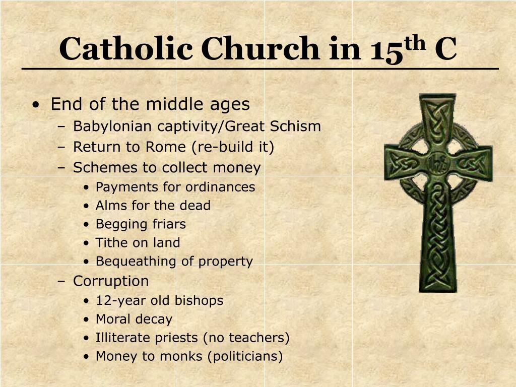 Catholic Church in 15