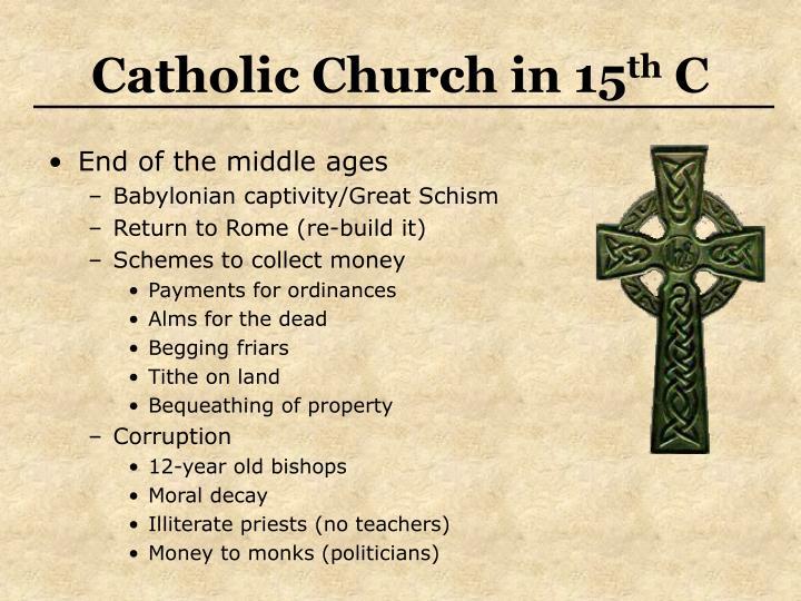 Catholic church in 15 th c