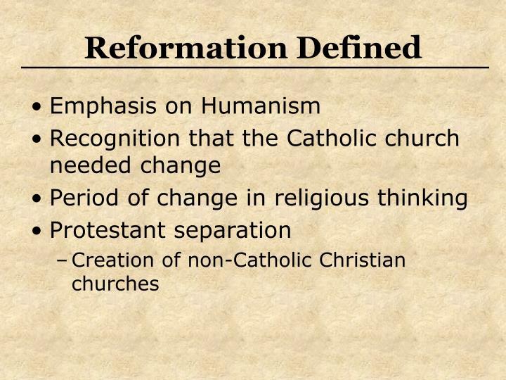 Reformation defined