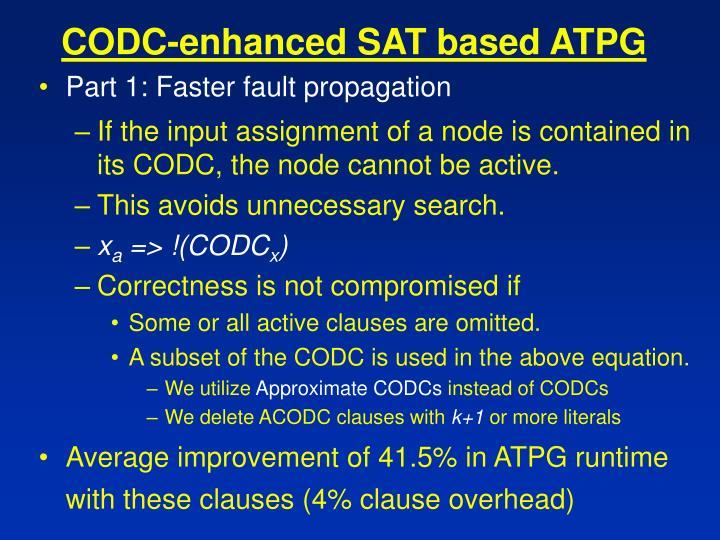 CODC-enhanced SAT based ATPG