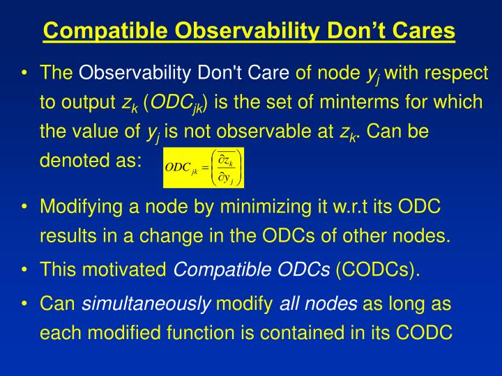 Compatible Observability Don't Cares