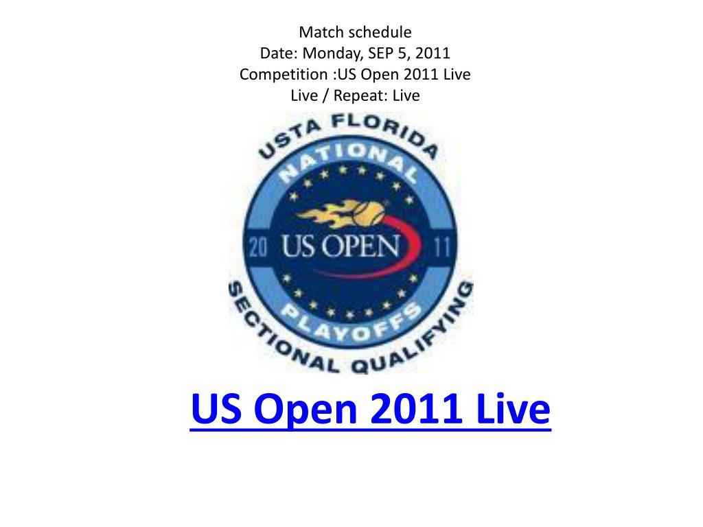 us open 2011 live