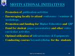 motivational initiatives