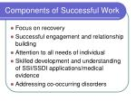 components of successful work