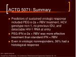 actg 5071 summary