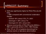 apricot summary