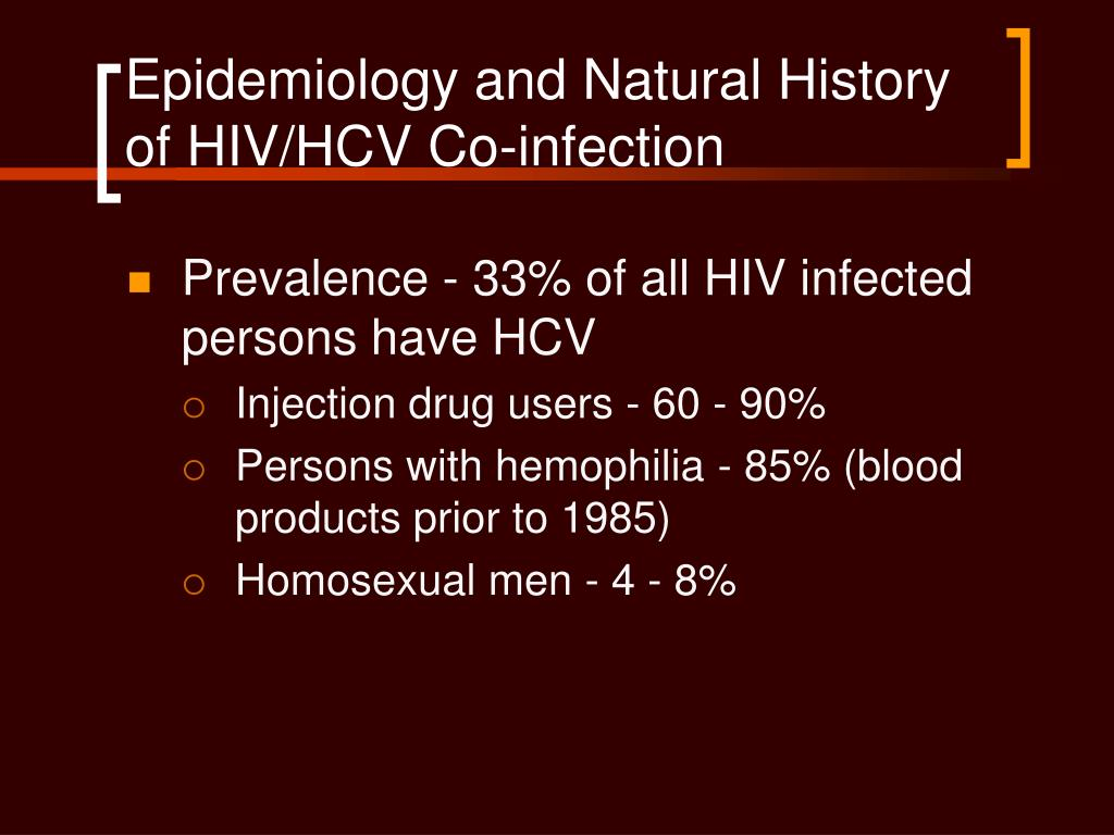 Epidemiology and Natural History of HIV/HCV Co-infection