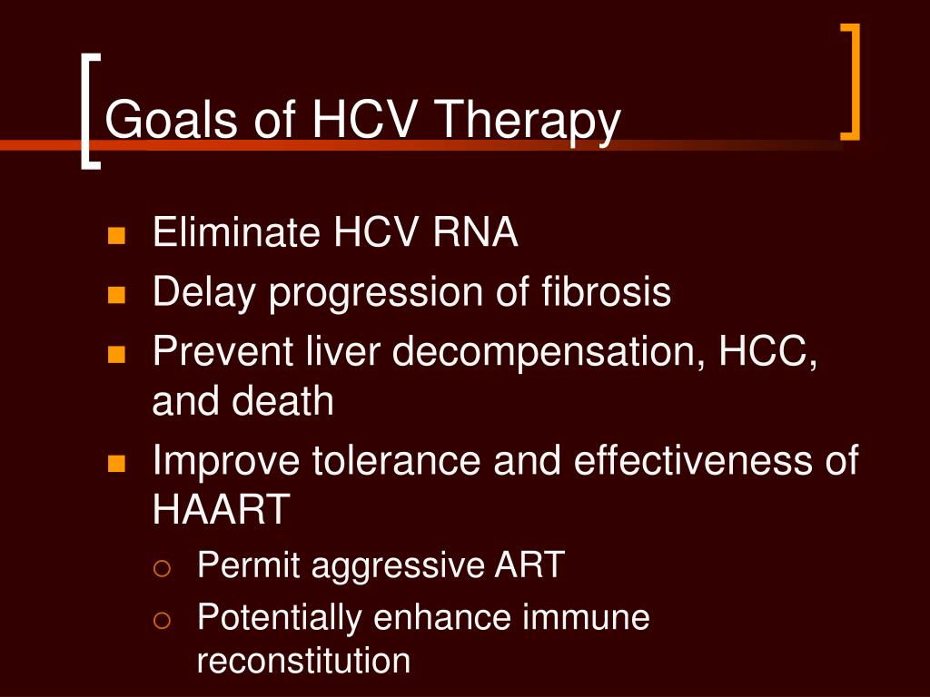 Goals of HCV Therapy