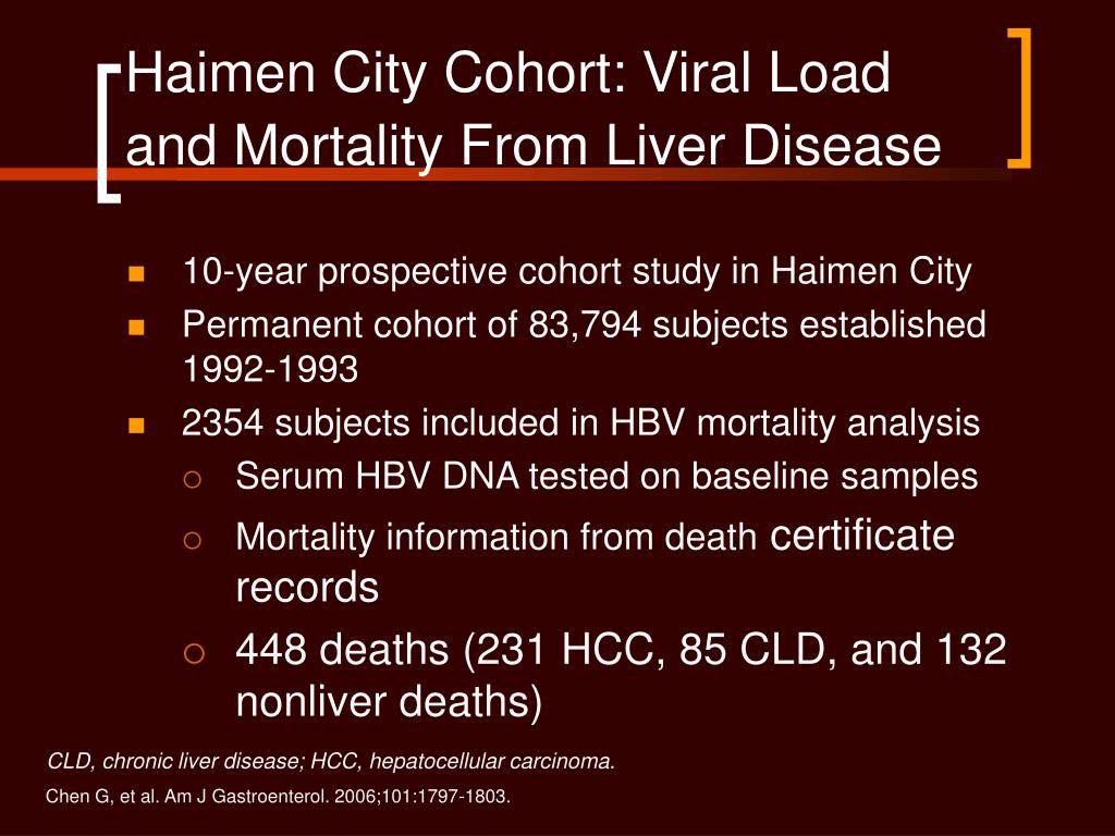 Haimen City Cohort: Viral Load and Mortality From Liver Disease
