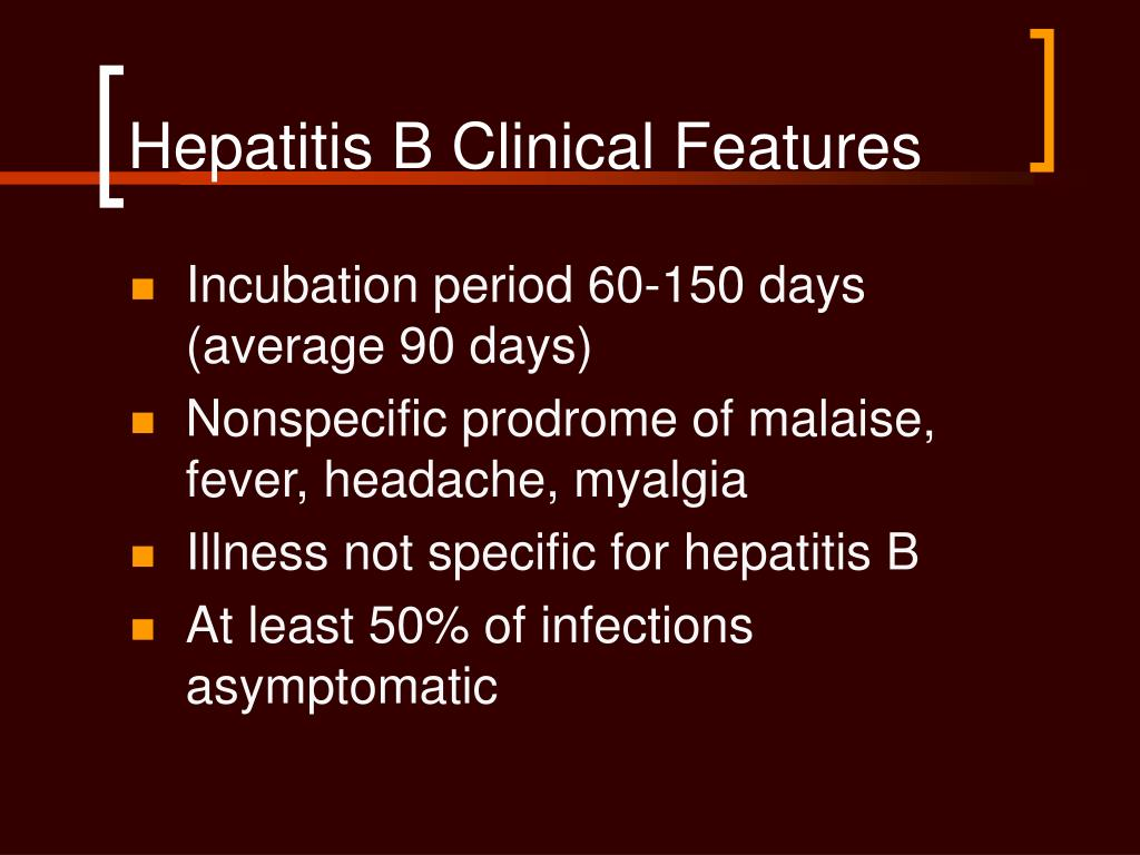 Hepatitis B Clinical Features