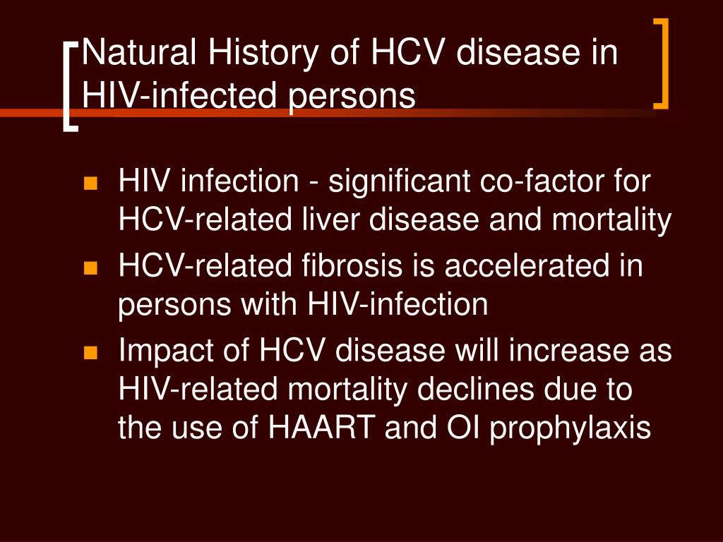 Natural History of HCV disease in HIV-infected persons
