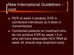 new international guidelines cont