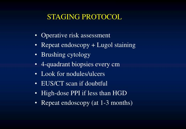STAGING PROTOCOL
