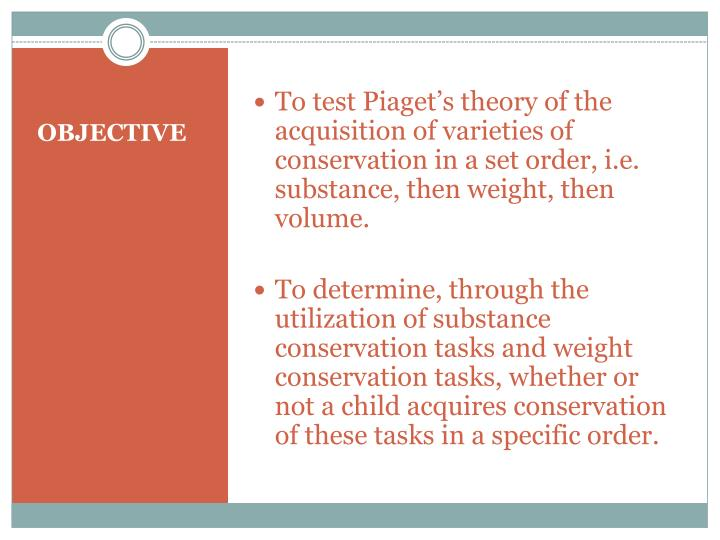 piaget s conservation tasks