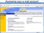 accessing your e mail account