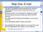 step one e mail