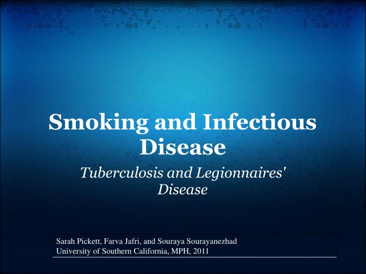 smoking and infectious disease n.