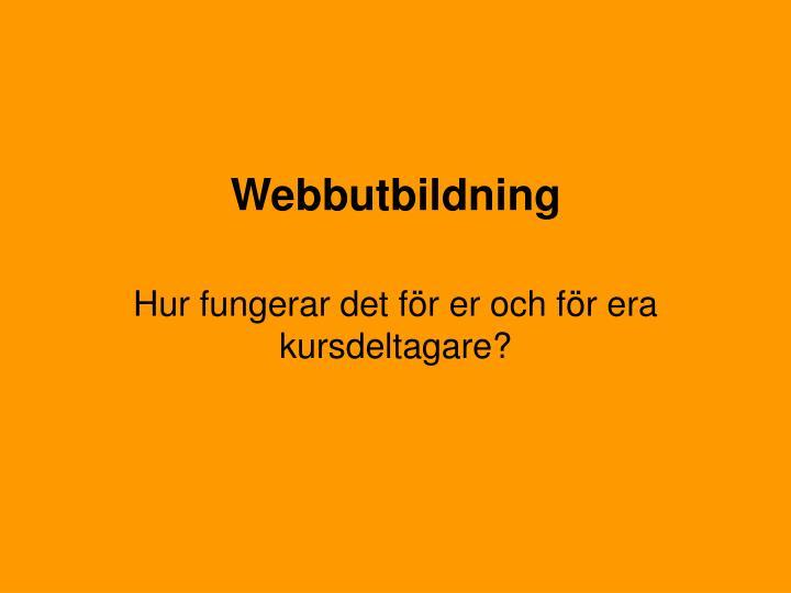 Webbutbildning