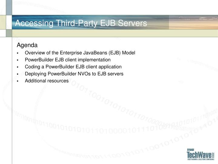 Accessing third party ejb servers